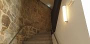 die Burgmauer im zweiten Treppenaufgang